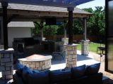 Completed outdoor kitchen and lounge area